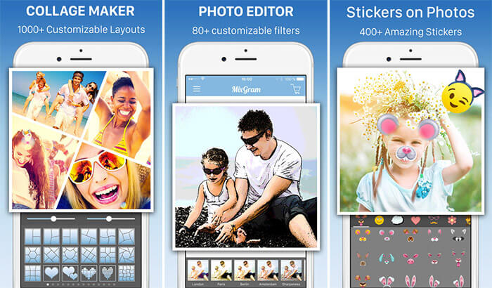 Collage Maker Mixgram Editor iPhone and iPad App Screenshot
