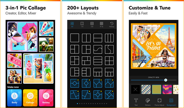 Collageable Collage Making iPhone and iPad App Screenshot