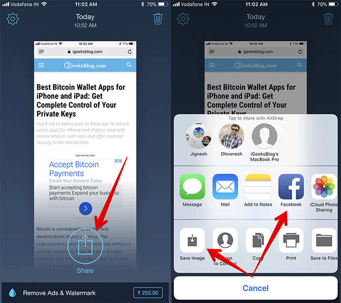 Combine Multiple Screenshots into a Single Image on iPhone and iPad