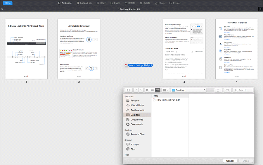 Combine PDFs on Mac Using Drag and Drop