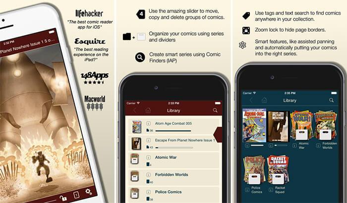 Comic Zeal Comic Book Reader iPhone and iPad App Screenshot