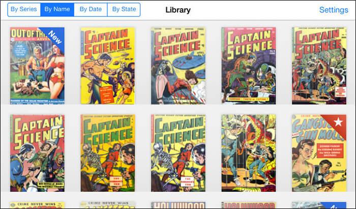 ComicFlow iPhone and iPad App Screenshot