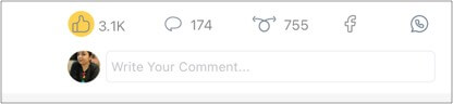 Comment section in Koo iPhone app