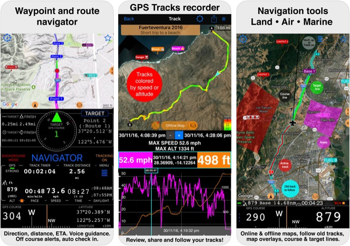 Compass 55 Map and GPS kit Compass App for iPhone and iPad