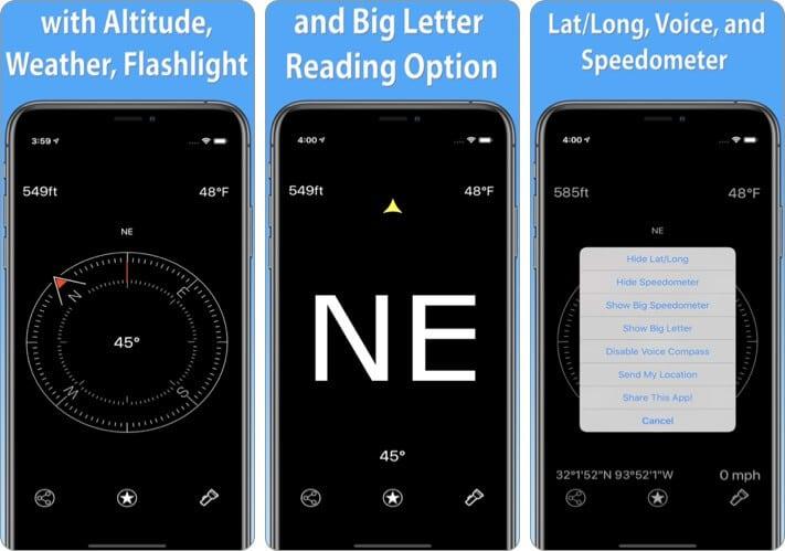 Compass astrophotography iPhone app screenshot