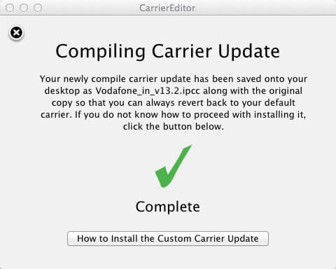 Compiling Carrier Update