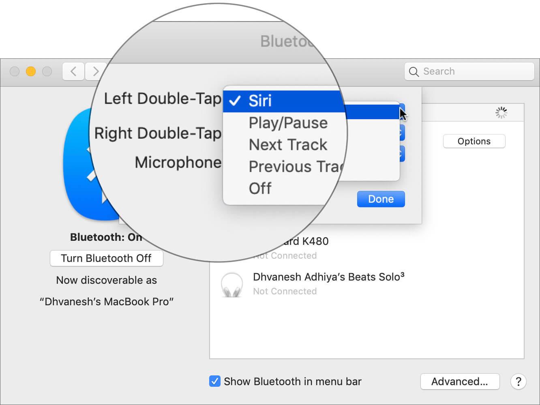 Configure AirPods Left Double-Tap Shortcut on Mac