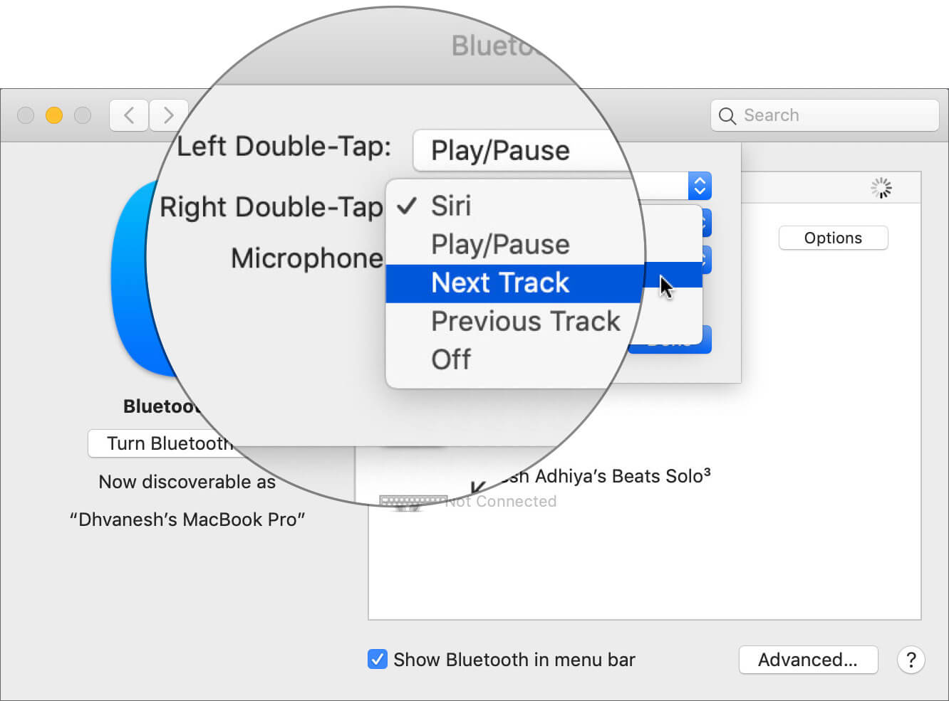 Configure AirPods Right Double-Tap Shortcut on Mac