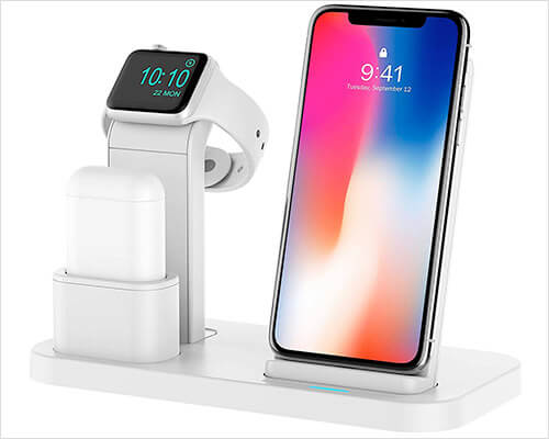 Conido Wireless Docking Station for iPhone Xs, Xs, and iPhone XR