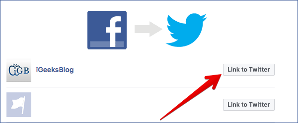 Connect Facebook Page to Your Twitter Account