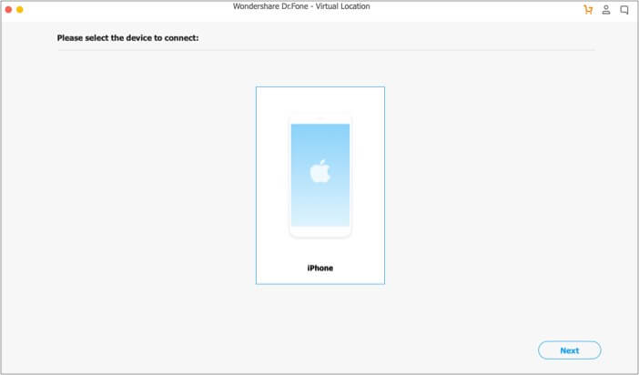 Connect iPhone to computer and select your device on the screen on Mac