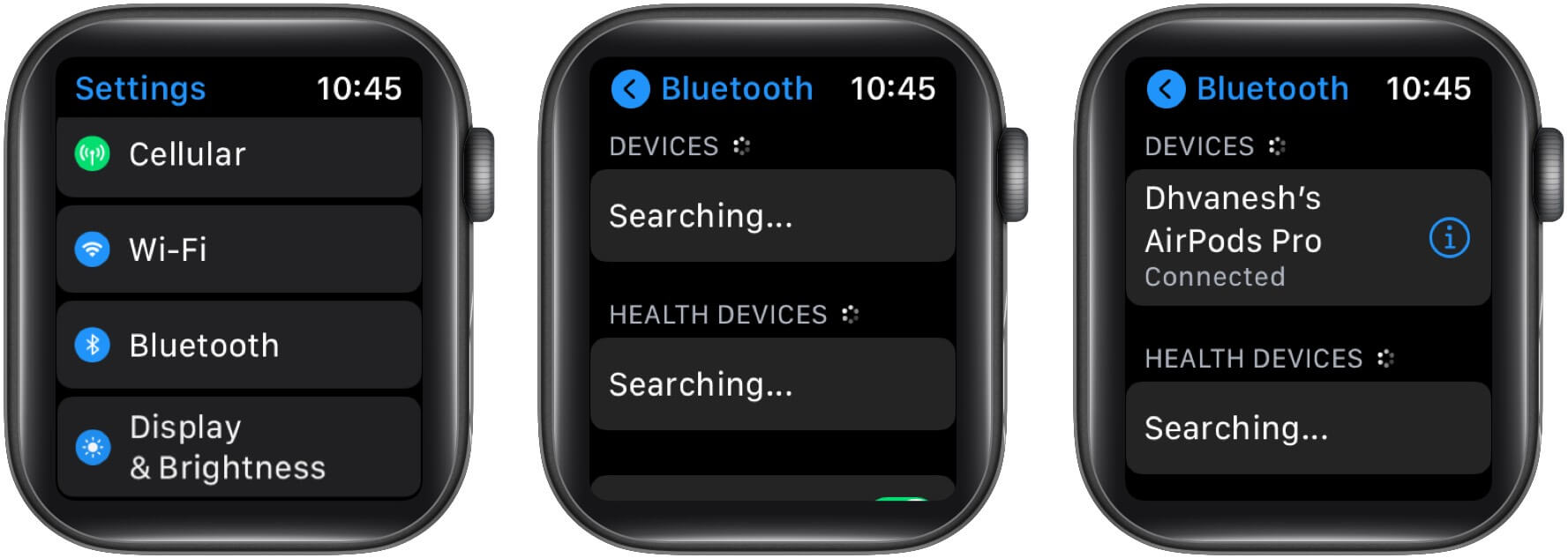 Connect your AirPods with Apple Watch