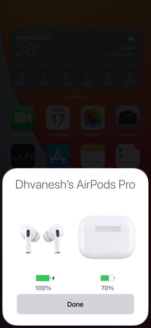 Connected AirPods Pro with iPhone