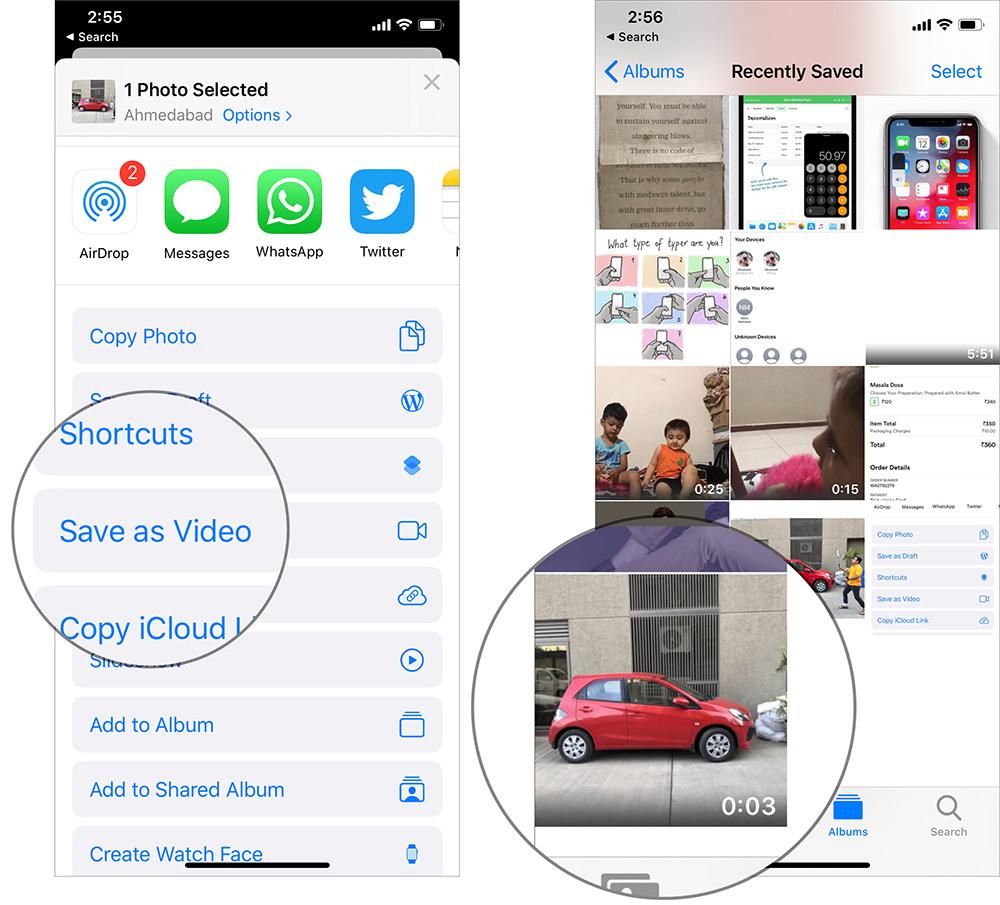Convert Live Photos into Video in iOS 13