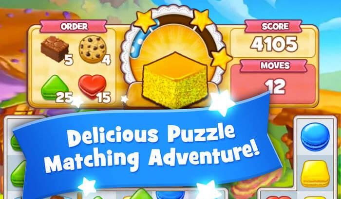 Cookie Jam Puzzle iPhone and iPad Game Screenshot