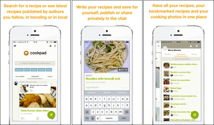 Cookpad iPhone and iPad App Screenshot
