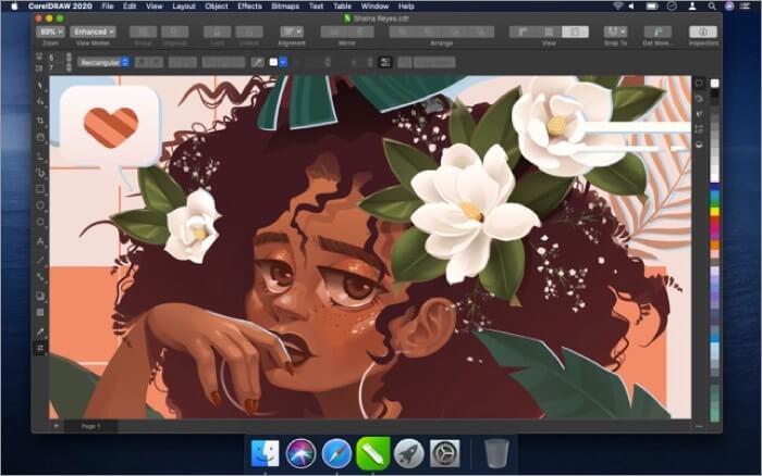 CorelDRAW Mac Drawing App Screenshot