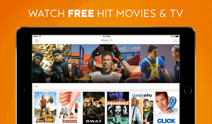 Crackle Watch Movies and TV Shows iPad App Screenshot