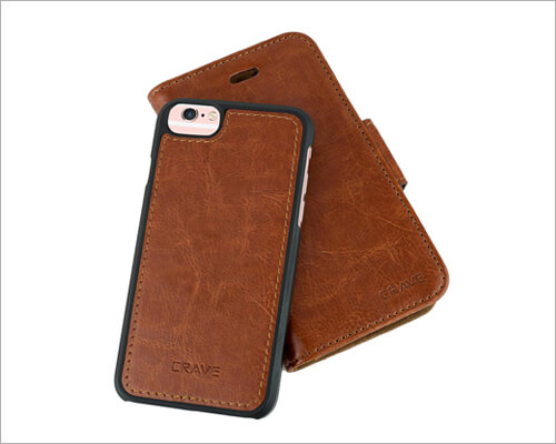 Crave Leather Wallet Case for iPhone 6 6s