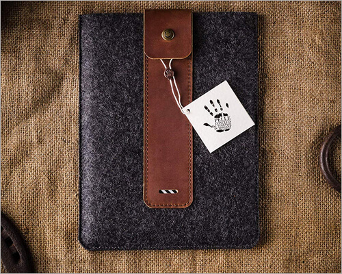 Crazy Horse Craft Leather Sleeve Case for iPad 10.2 inch