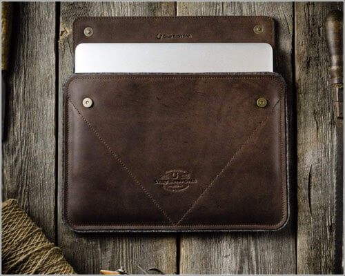 Crazy Horse Craft Leather Sleeve for 12.9-inch iPad Pro 4th Gen