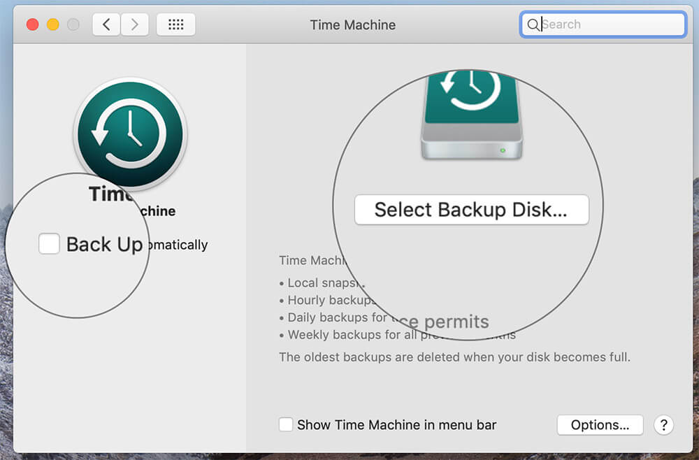 Create Backup Using Time Machine on Mac