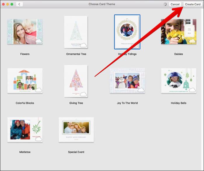 Create Card Using Photos App on Mac