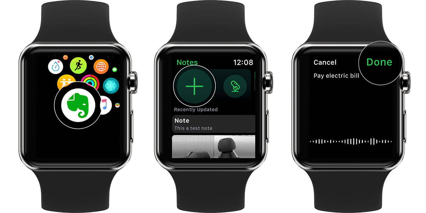 Create Evernote Reminders On Apple Watch