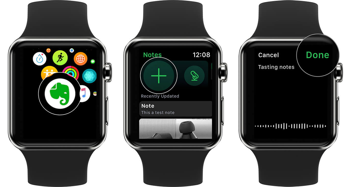Create Notes Title Using Voice on Evernote from Apple Watch