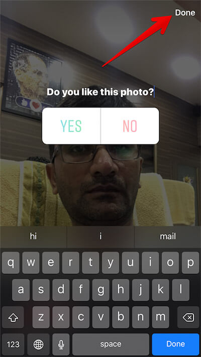 Create Poll in Instagram Stories on iPhone