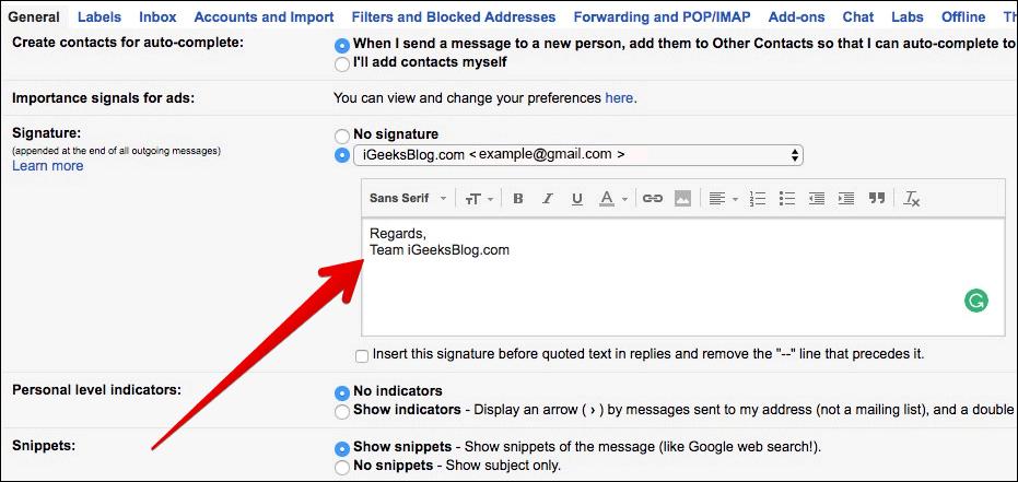 Create Signature for Gmail on Mac or Windows PC