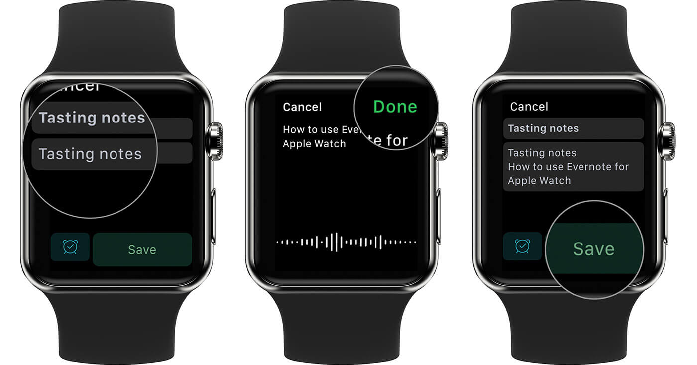 Create Voice Notes on Evernote from Apple Watch