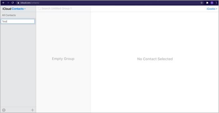 Create new group in iCloud on Mac