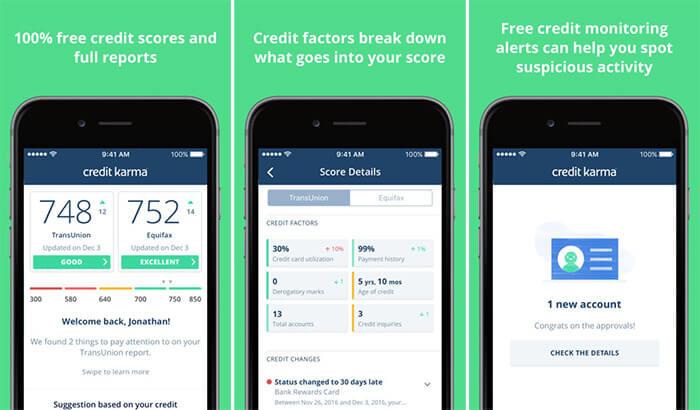 Credit Karma Personal Finance iPhone and iPad App Screenshot