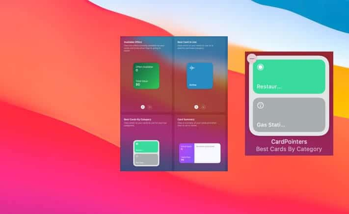 Creditpointers Widget for macOS