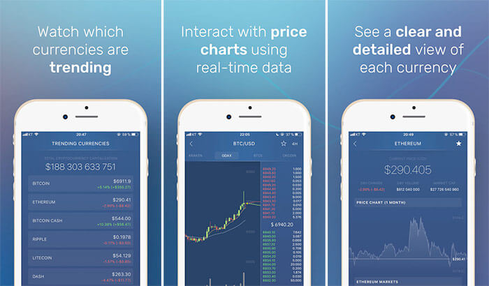 CryptoTrader by Zerion iPhone and iPad Cryptocurrency Trading App Screenshot