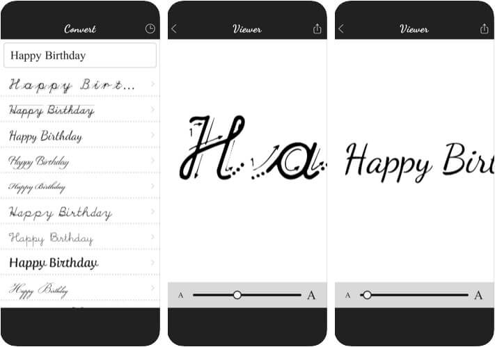 Cursive Converter iPhone and iPad Handwriting App Screenshot