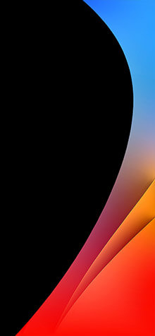 Curved Geometry iPhone XS Wallpaper