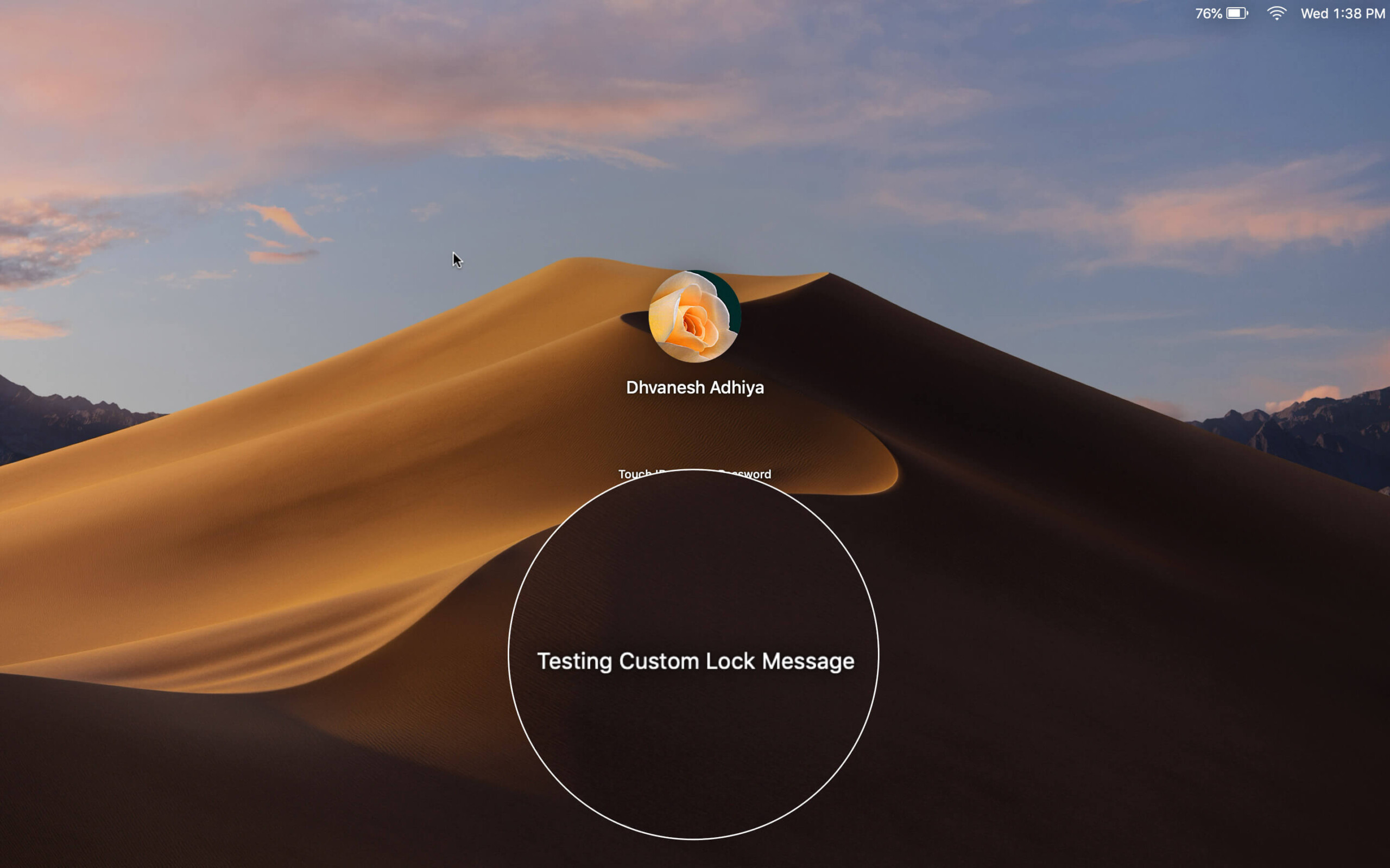 Custom Lock Screen Message on Mac