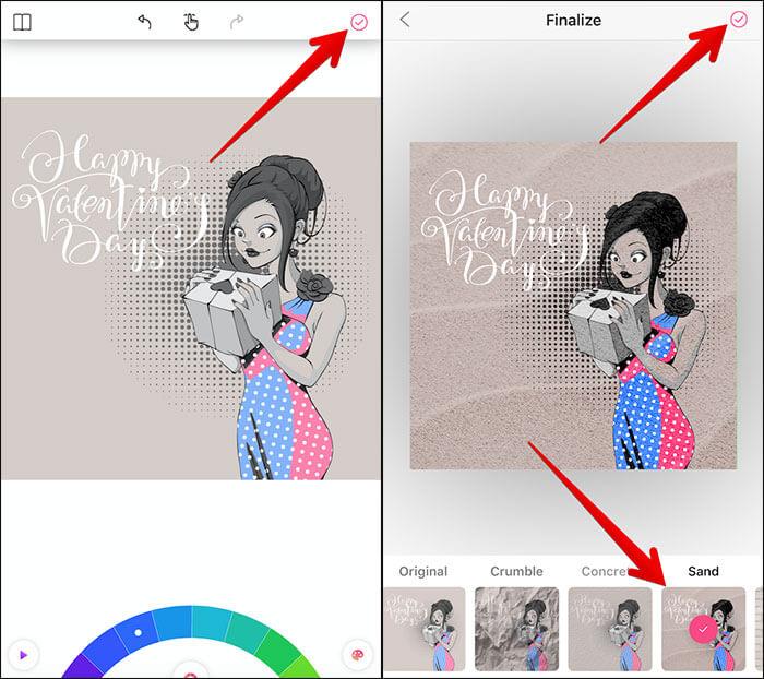Customize Artwork in Colorgram App