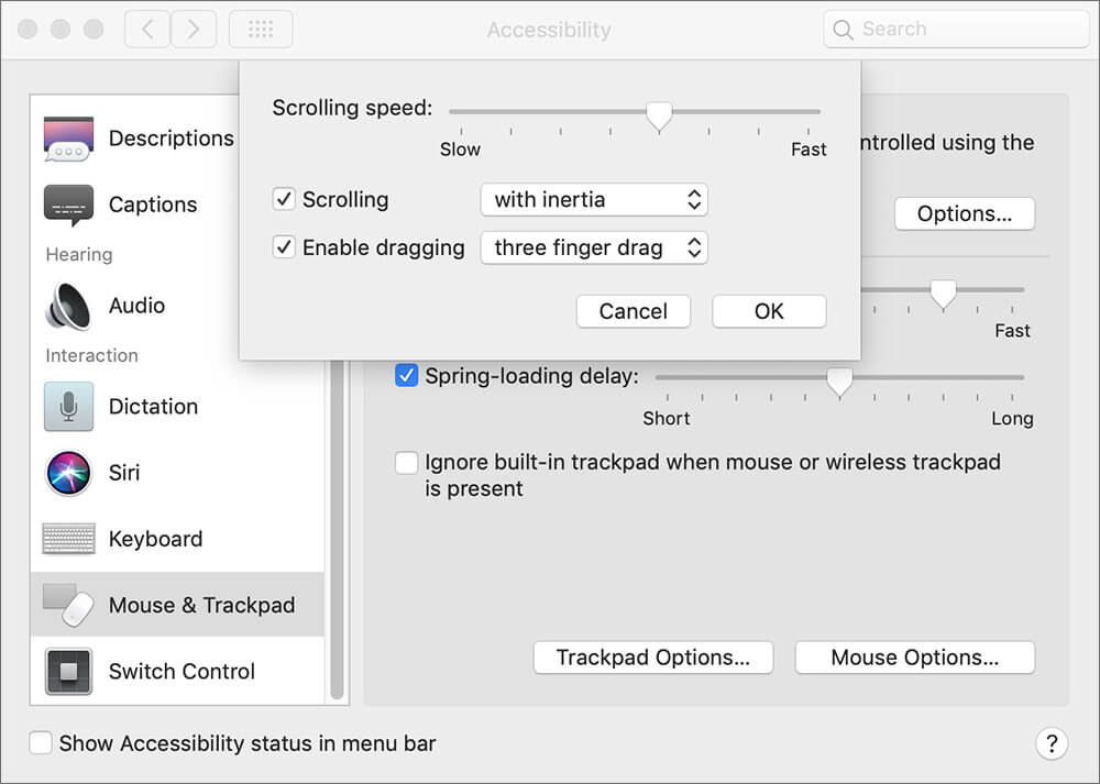 Customize Fingers gestures on Mac