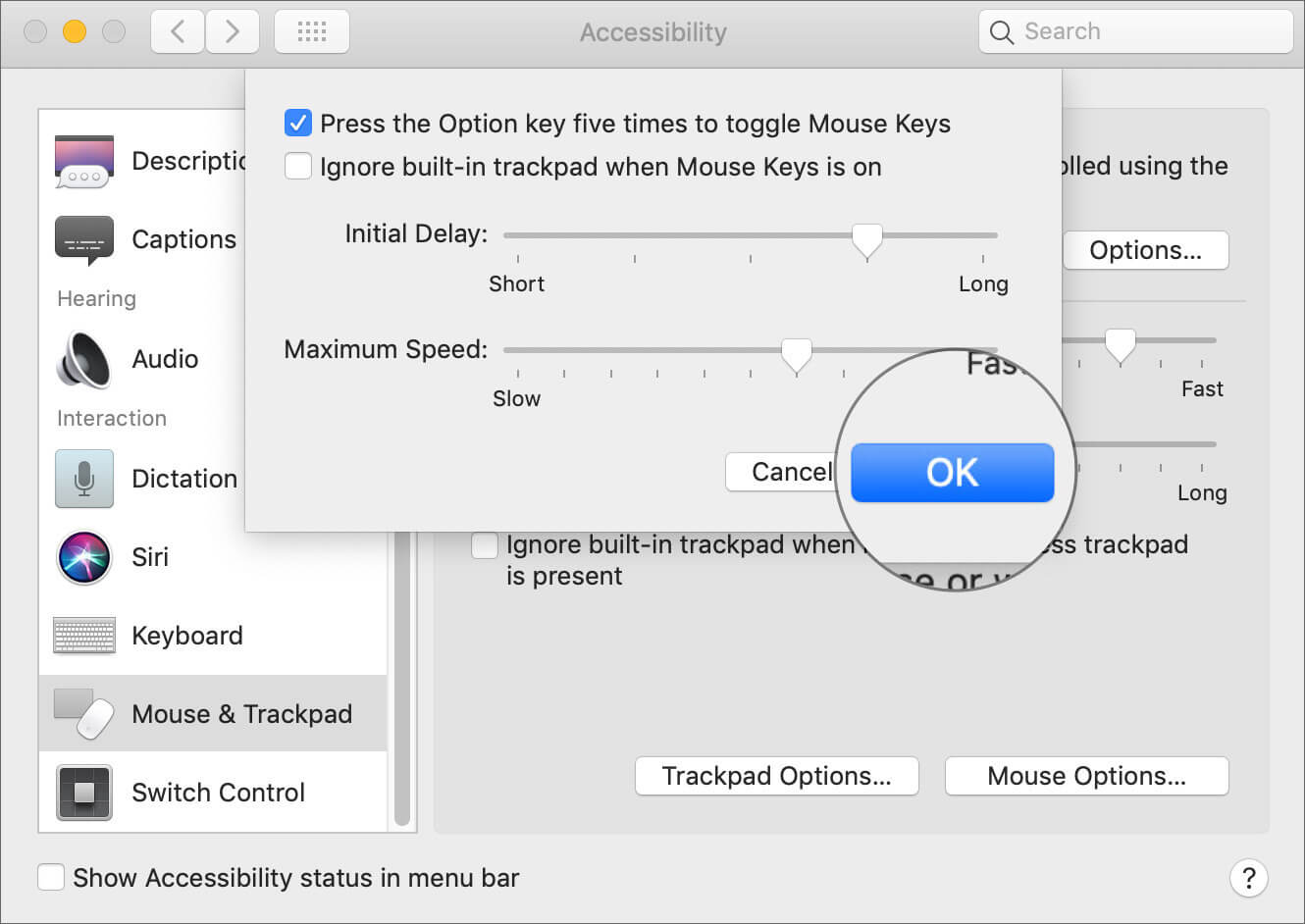 Customize Mouse Key Feature on Mac
