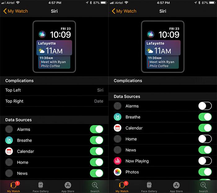 Customize Siri Watch Face on Apple Watch