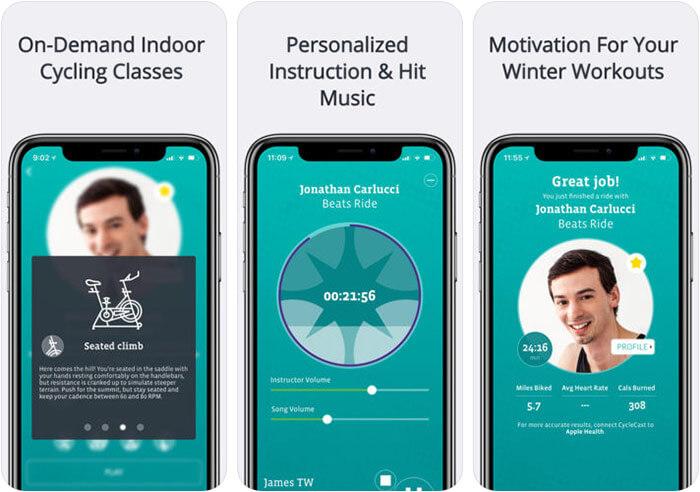 CycleCast Indoor Cycling iPhone App Screenshot
