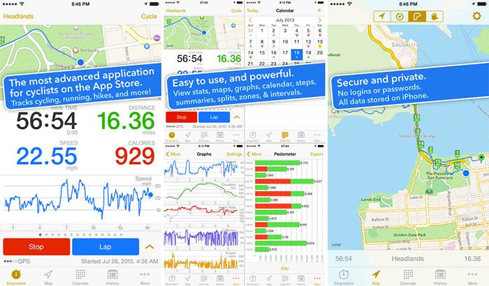 Cyclemeter GPS Cycling iPhone App Screenshot