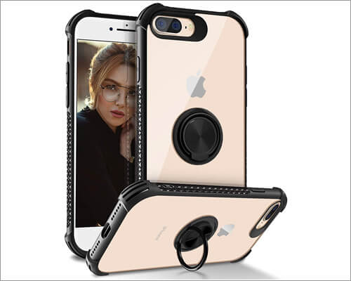 DAUPIN Ring Kickstand Case for iPhone 8 Plus