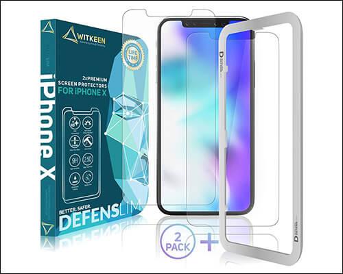 DEFENSLIM iPhone Xs Glass Screen Protector