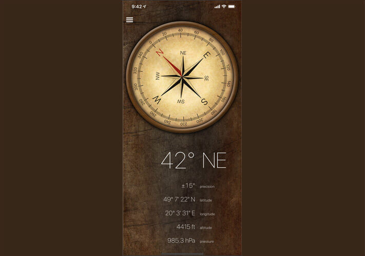 DOUBLE U Compass X App for iPhone and iPad
