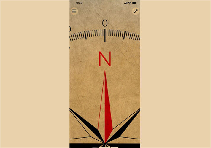 DOUBLE U Minimalistic Compass App for iPhone and iPad