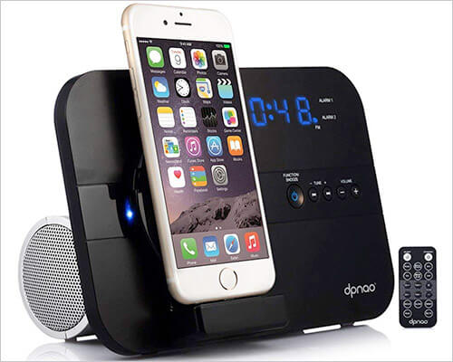 DPNAO Charging Docking Station with Speaker for iPhone 5,5s, and iPhone SE